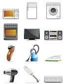 Household appliance icons — Stock Photo