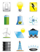 Energy icons — Stock Photo