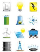 Energy icons — Stock Photo