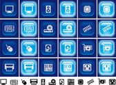 Hardware buttons with light effect — Stock Photo