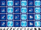 Underhåll dator knappar med ljuseffekt — Stockfoto