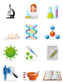 Medical investigation icons — Stock Photo