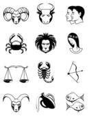 Zodiac icons — Stock Photo