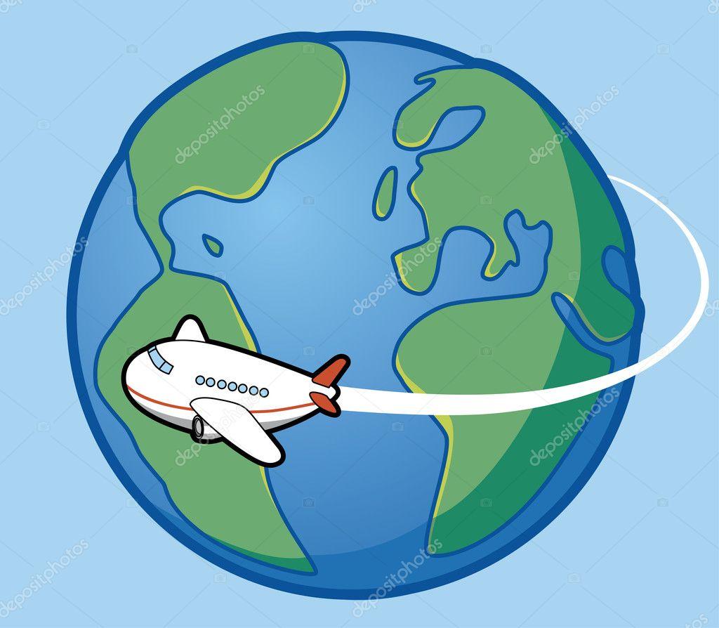 Airplane travel around the world — Stock Photo © carbouval #3887888