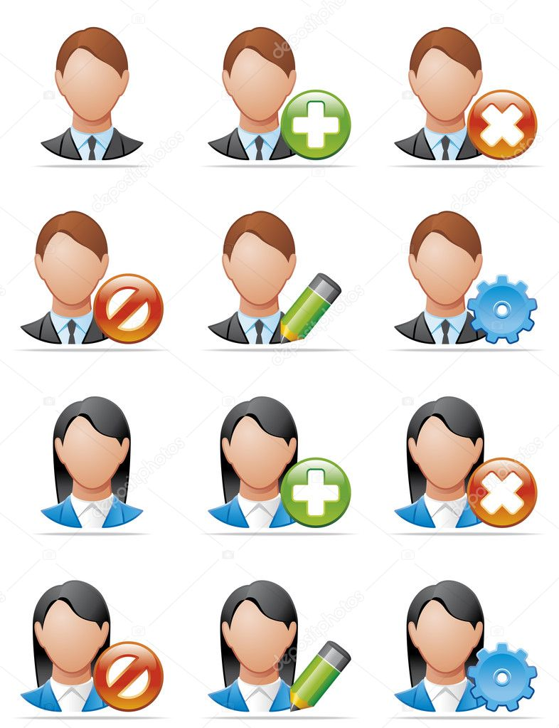 Illustration  User icons  Stock Photo #3888204