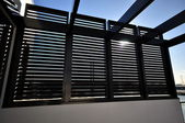 Shutters and pergola — Stock Photo