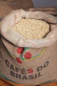 Bag of coffee grains — Stock Photo
