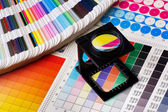 Sada správy barev — Stock fotografie
