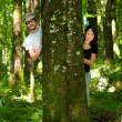 Couple in forest — Stock Photo #3556551