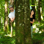 Couple in forest — Stock Photo