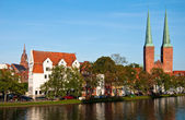 The cathedral of Luebeck — Stock Photo