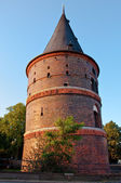 An old tower in Luebeck, Germany — Stock Photo