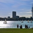 The Alster in Hamburg — Stock Photo