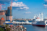 The port of Hamburg — Stock Photo