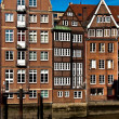 Historical houses in Hamburg - Stock Photo