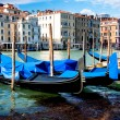 Stock Photo: Gondolas on Canal Grande