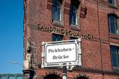 Pickhuben bridge — Stock Photo