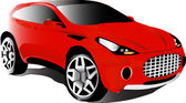 Red car — Stock Vector