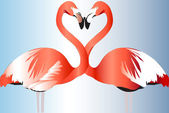 Two pink flamingos — Stock Vector