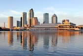 Modern Architecture in Downtown of Tampa, Florida USA — Stock Photo