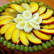Chocolate and fruit pie. - Stock Photo