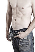 Sexy man with nude torso — Stock Photo