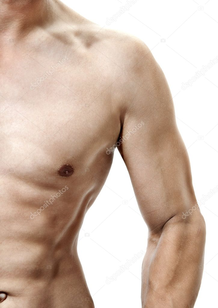 Sexual mans torso with muscles — Stock Photo #3709404