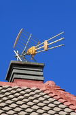 Antenna on the roof — Stock Photo