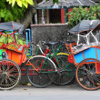 Tricycle Yogyakarta, Java, Indonesia — Foto de stock #3979849