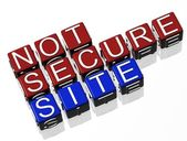 Not Secure Site — Stock Photo