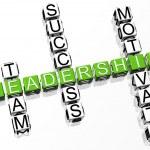 3D Leadership Crossword — Stock Photo