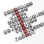 3D Marketing Crossword — Stock Photo