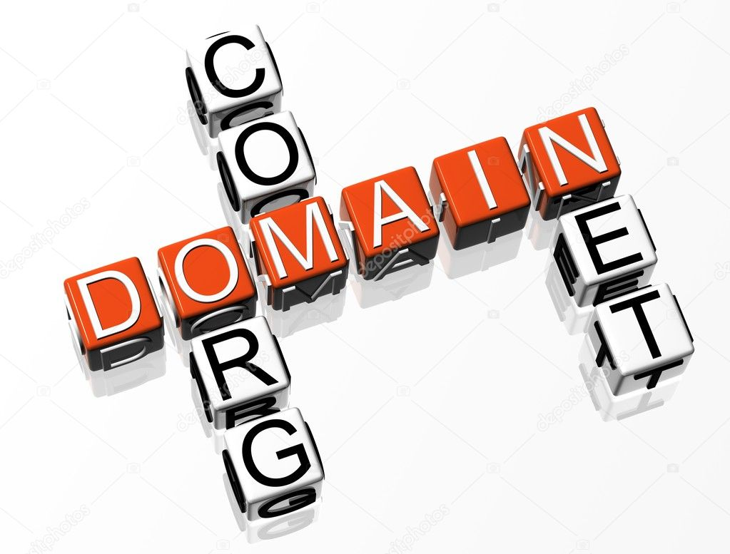 3D Domain Crosswordtext on white background — Stock Photo #4097714