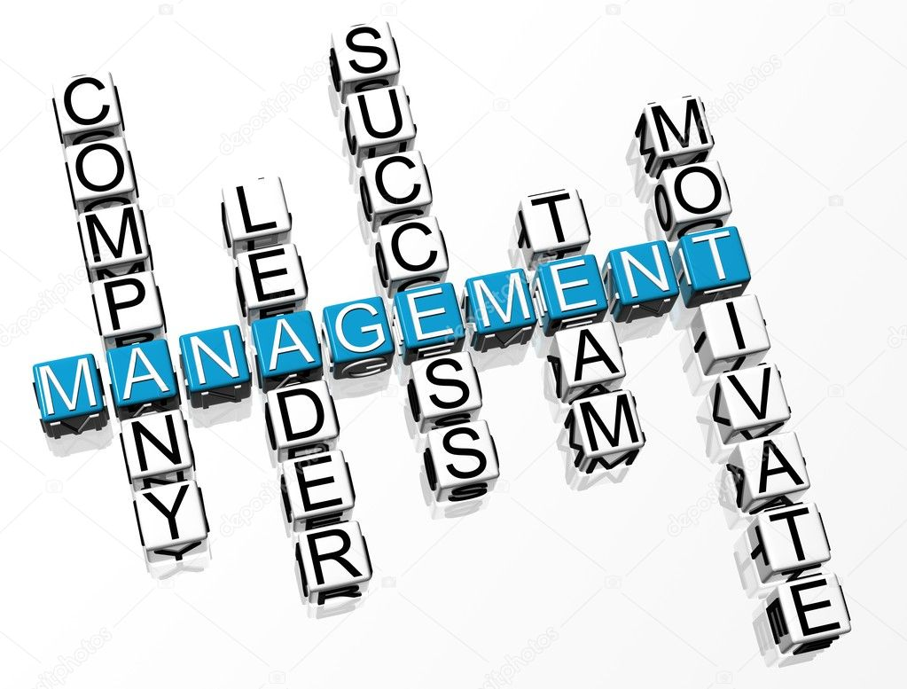3D Management Crossword text on white background — Stock Photo #4097877