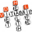 Vitamin Health Life Diet Crossword — Stock Photo