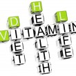 Vitamin Health Life Diet Crossword - Stock Photo