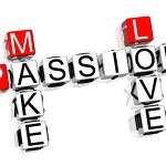 Passion Crossword — Stock Photo