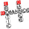 Romance Crossword — Stock fotografie #4977457