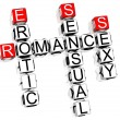 Romance Crossword — Foto de stock #4977480