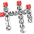 Romance Crossword — Stock Photo