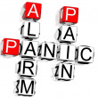 Panic Crossword — Stock Photo