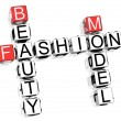 Fashion Crossword - Stock Photo