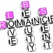 Romance Crossword — Foto de stock #4977536