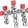Romance Crossword — Foto Stock