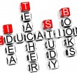 Education Crossword — Foto de Stock