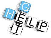 Get Help Crossword — Stock Photo