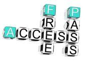 Access Crossword — Stock Photo
