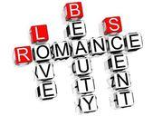 Romance Crossword — Stock Photo