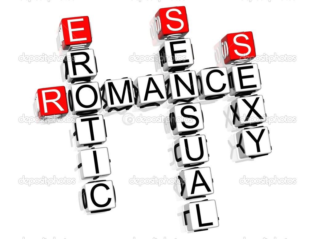 3D Romance Crossword text on white background  Stock Photo #4977480