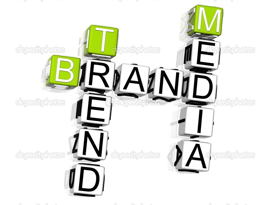 3D Brand Crossword on white background — Stock Photo #5028100